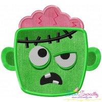Zombie Face Applique Design