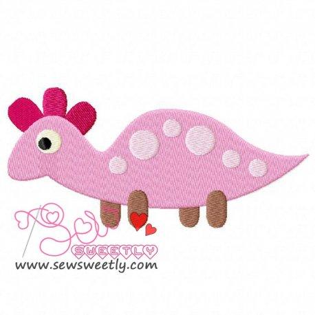Cute Dino-2 Embroidery Design