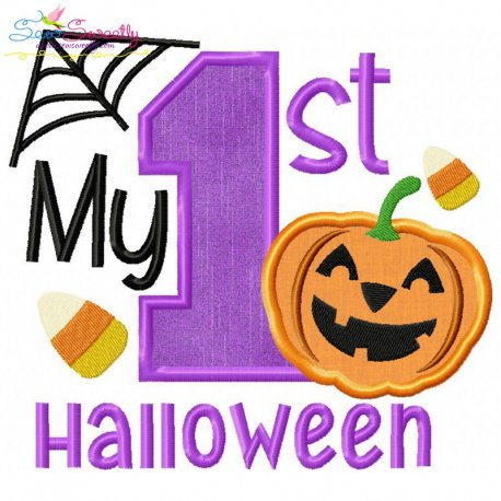 my 1st halloween applique design
