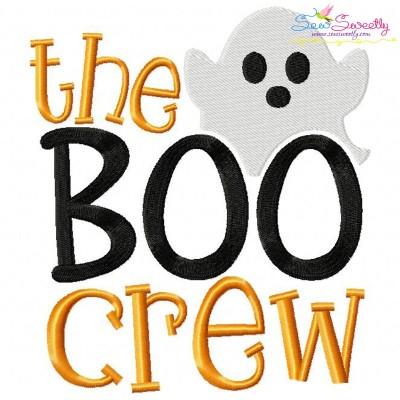 The Boo Crew-2 Embroidery Design