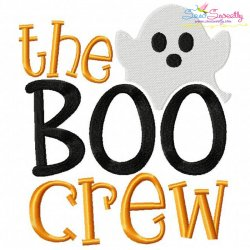 The Boo Crew-2 Lettering Embroidery Design