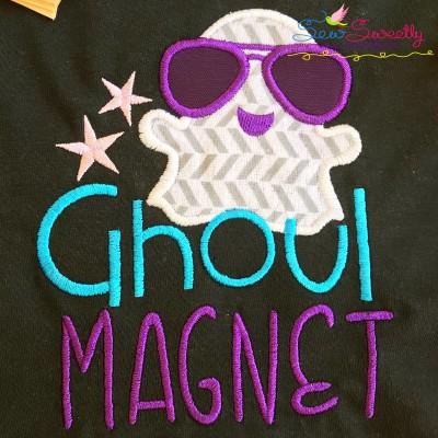 Ghoul Magnet Lettering Applique Design