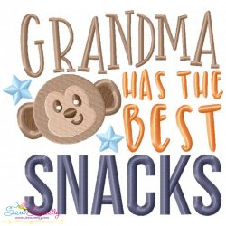 Grandma Has The Best Snacks Embroidery Design