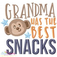 Grandma Has The Best Snacks Embroidery Design
