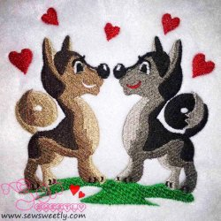 Valentine Love Embroidery Design