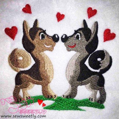 Valentine Love Embroidery Design Pattern- Category- Valentine's Day Designs- 1