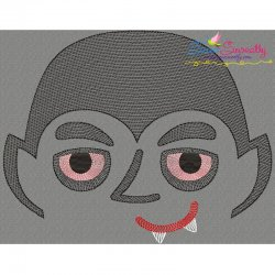 Halloween Face- Vampire-Sketch Embroidery Design