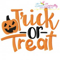 Trick Or Treat-2 Lettering Embroidery Design