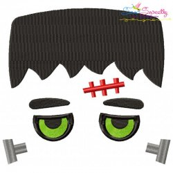Halloween Face- Frank-Filled Embroidery Design