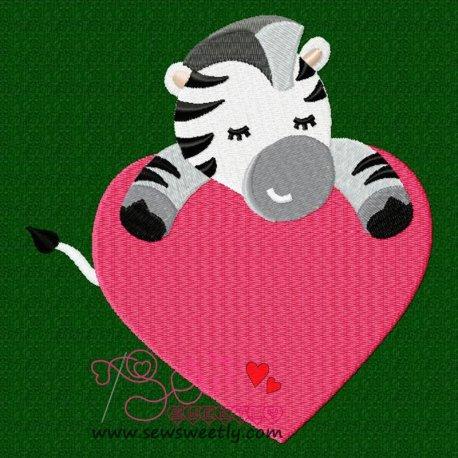 Safari Valentine-9 Embroidery Design Pattern- Category- Valentine's Day Designs- 1