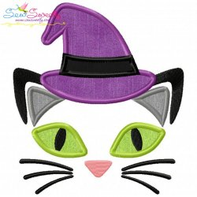 Halloween Face- Cat- Applique Design
