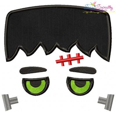 Halloween Face- Frank- Applique Design