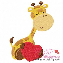 Safari Valentine-6 Embroidery Design