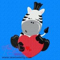 Safari Valentine-3 Embroidery Design
