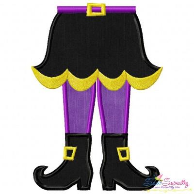 Witch Legs Applique Design