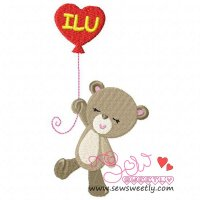 Valentine Bear-1 Embroidery Design