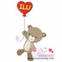 Valentine Bear-1 Embroidery Design