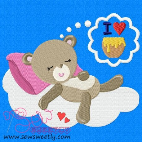 Valentine Bear-2 Embroidery Design