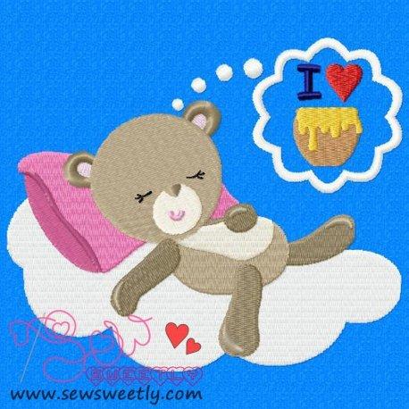 Valentine Bear-2 Embroidery Design Pattern- Category- Valentine's Day Designs- 1
