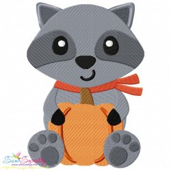 Fall Raccoon- Boy Embroidery Design