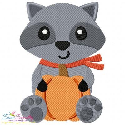 Fall Raccoon- Boy Embroidery Design