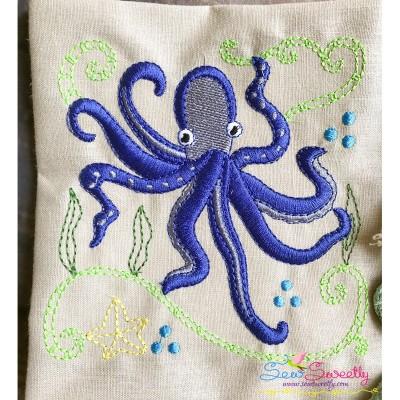 Sea Life Block- Octopus Embroidery Design