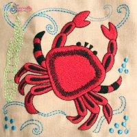 Sea Life Block- Crab Embroidery Design