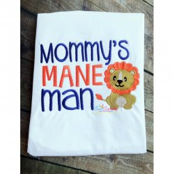 Mommy's Mane Man Embroidery Design