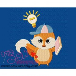 Animal Student-2 Embroidery Design