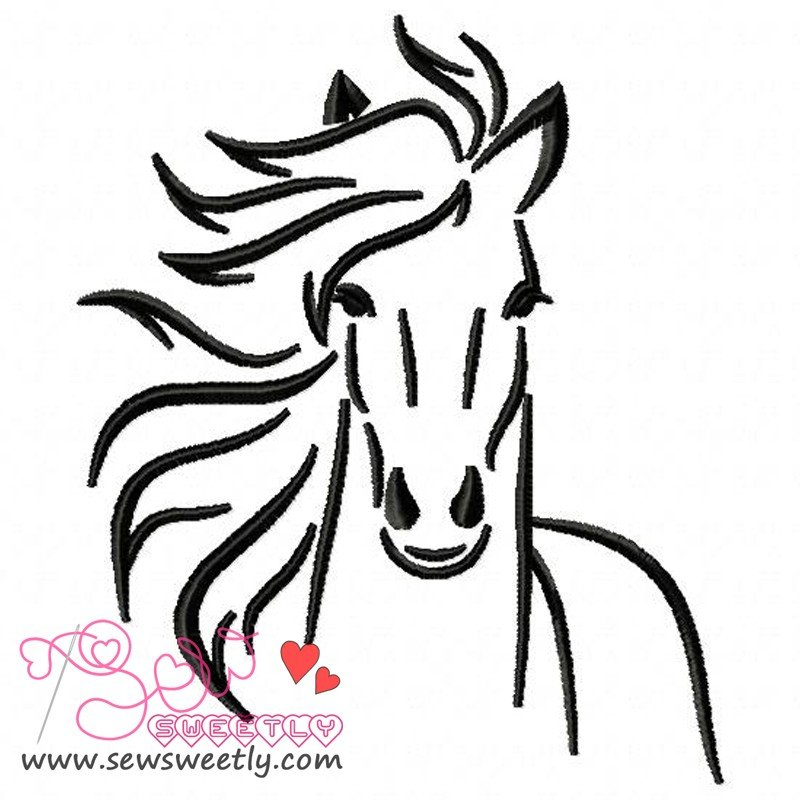 horse1 embroidery design for animal lovers