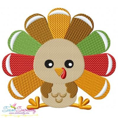 Sitting Turkey- Boy Embroidery Design