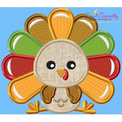Sitting Turkey- Boy Applique Design