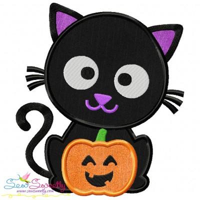 Black Cat Pumpkin- Boy Applique Design