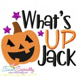 What's Up Jack Lettering Embroidery Design