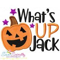 What's Up Jack Lettering Applique Design