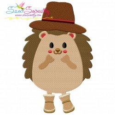 Hedgehog- Boy Embroidery Design