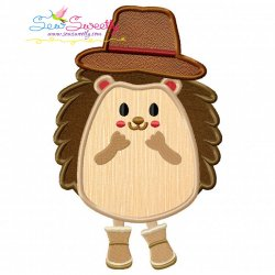 Hedgehog- Boy Applique Design