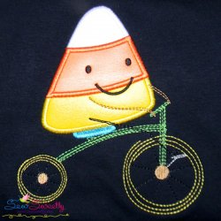 Halloween Bike- Candy Corn Applique Design