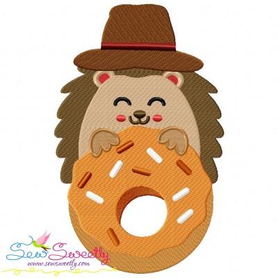 Hedgehog- Boy Donut Embroidery Design