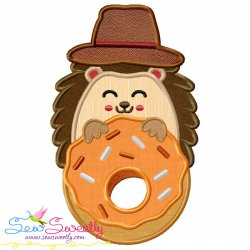 Hedgehog- Boy Donut Applique Design