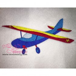 Airplane-2 Embroidery Design