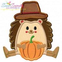 Hedgehog- Boy Pumpkin Applique Design