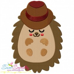Hedgehog- Boy Sleeping Embroidery Design