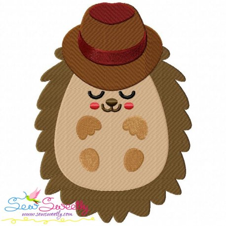 Hedgehog- Boy Sleeping Embroidery Design Pattern- Category- Fall And Thanksgiving- 1