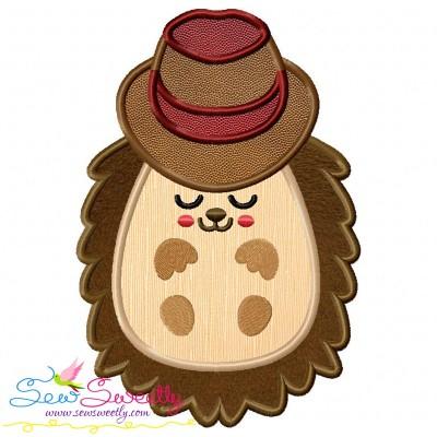 Hedgehog- Boy Sleeping Applique Design