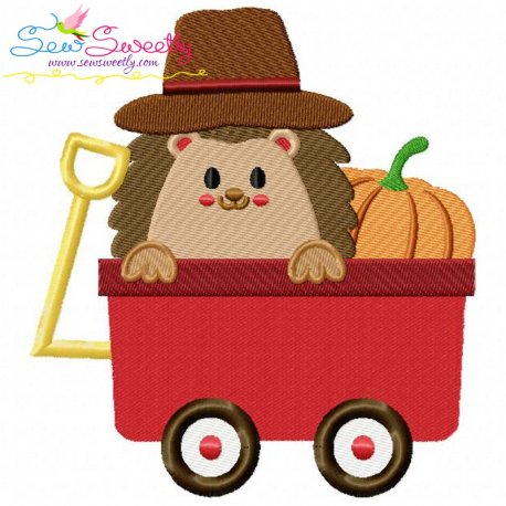 Hedgehog- Boy Wagon Embroidery Design
