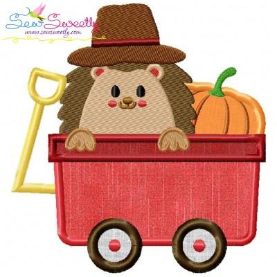 Hedgehog- Boy Wagon Applique Design