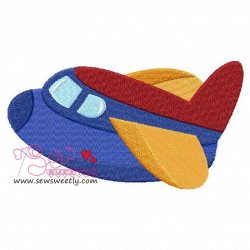 Airplane-3 Embroidery Design