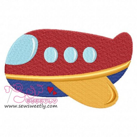 Airplane-4 Embroidery Design