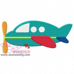 Airplane-5 Embroidery Design